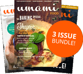 3 issue bundle of the Umami food magazine